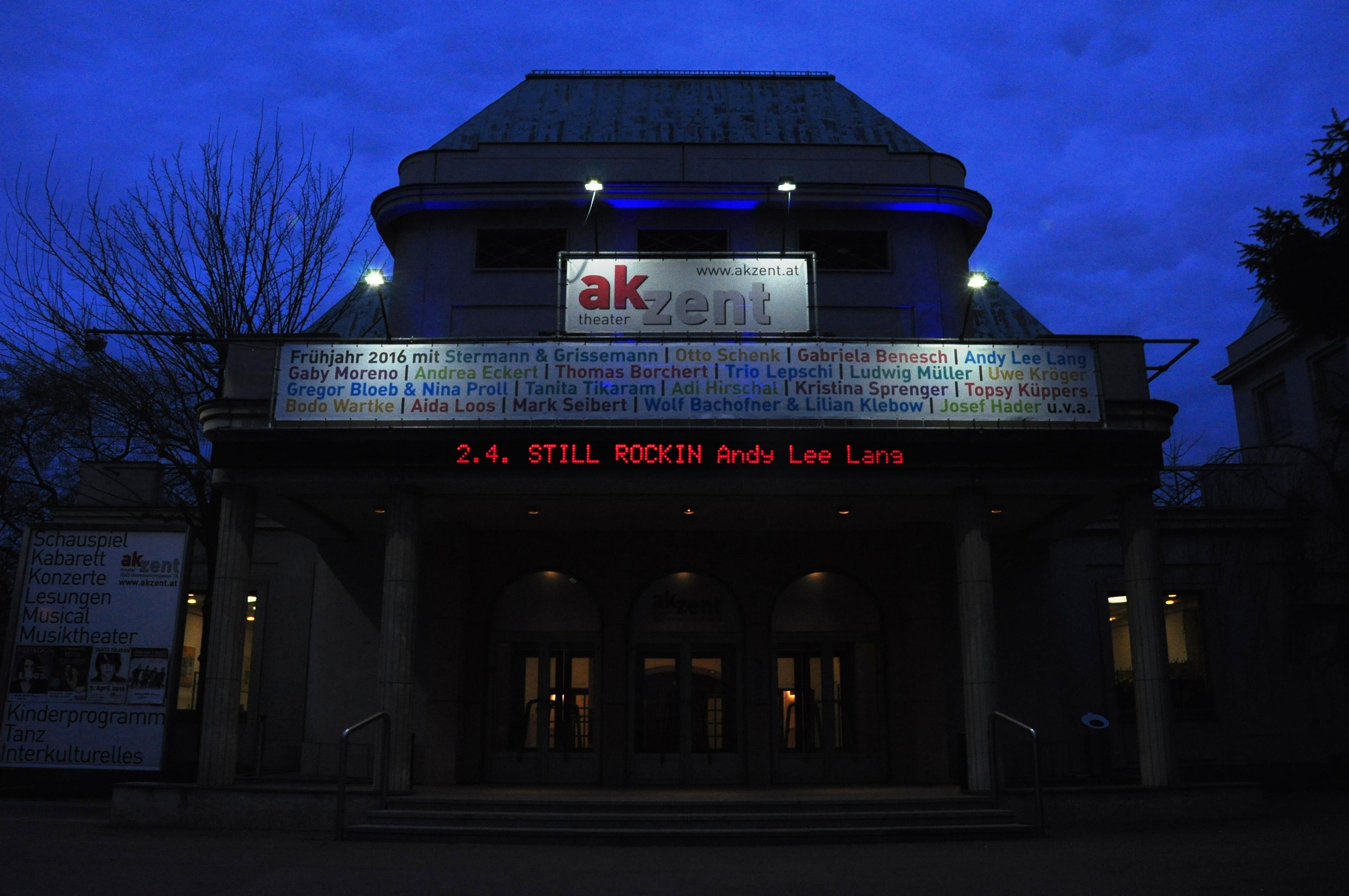 Das Theater Akzent in bleu.